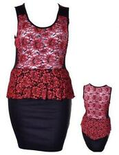 Rayon Knee Length Lace Dresses for Women