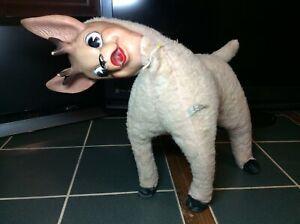 Vintage 1950's Deer Bambi Rubber Face Plush Stuffed Animal Disney Rare