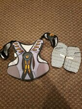 Brine Warrior Lacrosse Chest Protector, Elbow Pads, Size Youth Large Lot