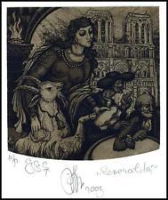 Agirba Ruslan 2003 Exlibris C3 Project Esmeralda Victor Hugo Woman Goat 248p