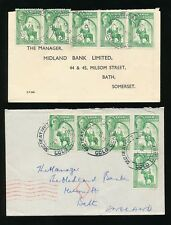 GOLD COAST 1952-53 SECRETARIAT B.O CANCELS ERROR MISSPELLING