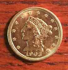 $2.50 Liberty Gold Quarter Eagle COIN ~ AU ~ 1903 ~ USA