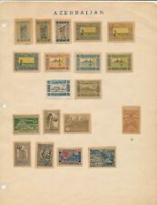 AZERBAIJAN: 28 VERY EARLY IMPERFERATED (MOSTLY) STAMPS ALL MINT HINGED
