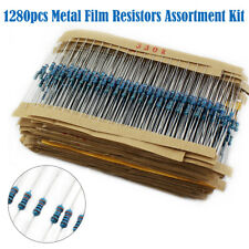 1280X 64 Valeurs 1/4W Précision Métal Résistances Film Kit Assortiment 1-10M ohm