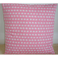 "NEW 16"" Animal Cushion Cover White Elephants Baby Pink Nursery Pillow Elephant"