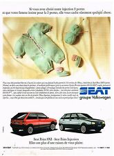 Publicité Advertising 1990 Seat Ibiza SXI et Injection