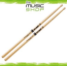 Set of Promark Shira Kashi Oak 808 Drumsticks with Large Round Wood Tips PW808W