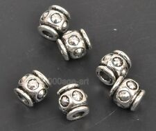 30pcs Tibetan Silver Charm bead spacer beads  Jewelry Findings 6x7mm A3303