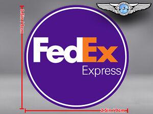 FED EX FEDEX EXPRESS LOGO ROUND DECAL / STICKER
