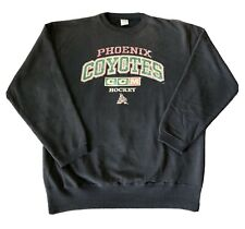 CCM NHL Phoenix Coyotes Black Pullover Sweatshirt Mens Medium Screen Print Logo