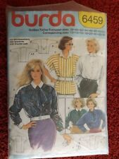 Burda 6459 Ladies Blouse Sizes 12 to 20 plus - CUT