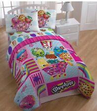 Shopkins Twin|Full Reversible Comforter + 4pc Full Sheet Set Bedding for Girls