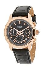 Rotary Men's Gs02879/04 Black Leather Strap Watch