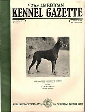 Vintage American Kennel Gazette January 1938 Doberman Pinscher Cover