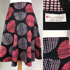 Vintage Miss Selfridge Cotton Skirt UK 8 EU34 Knee Length Flare Arty Camper Boho