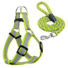 Step-in Reflective Nylon Puppy Dog Harness and Lead Leash Safety for Dogs S M L