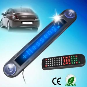 LED Digital Car Programmable Message Sign Moving Scrolling Display Board Blue UK