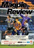 chorley fc V torquay united National League Programme 2019/20