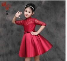 KIDS DRESS CINDERELLA -  MAROON
