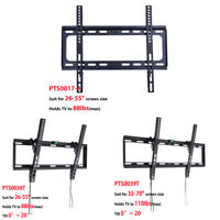 "Slim Flat/Tilt TV Wall Mount Bracket 23 26 30 32 37 42 46 50 52 55 60 70"" Inch"