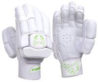 Cricket Batting Gloves - Pro Level - Mens Right - Light Weight - Alpine Green