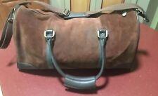 Vintage Marlboro 2003 Guts & Grit Gear Brown Suede Leather Duffle / Travel Bag