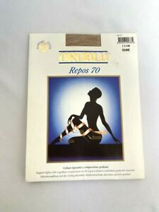 OROBLU Repos 70 Tights Graduated Compression Pantyhose Dune Size M Italy