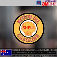 Vintage Shell Oil Gasoilne Decal Stickers Bottle Garage 10cm x 10cm