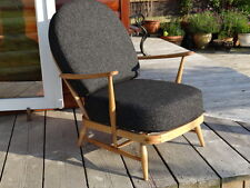 More details for cushions & covers only. ercol 203 chair. charcoal grey stitch camira fl768