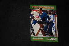 HOF JOHNNY BOWER 2012-13 PANINI SCORE THE FRANCHISE SIGNED AUTOGRAPHED CARD #OS3