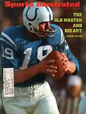 1972 7/10 Sports Illustrated Football,magazine Johnny Unitas Baltimore Colts~ VG