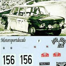 BMW 1800 TISA Rallye Monte Carlo 1967 #156 - 1:43 DECALCOMANIA