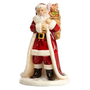 THE ENGLISH LADIES CO FIGURE FATHER CHRISTMAS SANTA CLAUS NEW & BOX LIKE DOULTON