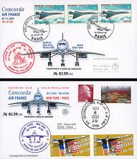 "Set 2 FFC USA on board ""CONCORDE Resumption Flights Paris-New York-Paris"" 2000"
