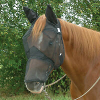 CASHEL STANDARD QUIET RIDE FLY MASK LONG COVERS NOSE AND EARS HORSE TACK TRAIL