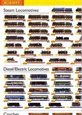 """Hornby 2008 Range """"Wallchart""""  Leaflet"""