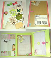 Hello Life JOTTER PAD & 8 STICKY NOTES ORGANISER Env Pocket SCRAPBOOK STYLE Gift