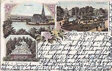 I 84-Stoccarda Johann Chiesa, Città Giardino,... precoce lito, 1898 GLF.