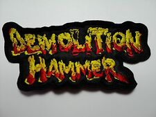 DEMOLITION HAMMER  SHAPED LOGO  EMBROIDERED PATCH