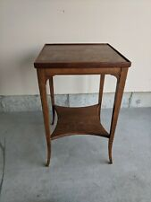 End Table Accent Coffee Table with Storage Shelf Living Room Wood Rustic Brown