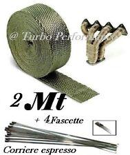 2 metri + fascette benda termica calore titanio scarico collettori  auto moto