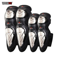 Adult Motorcycle Knee Pads Stainless Steel Motocross Elbow Guards MTB Protector