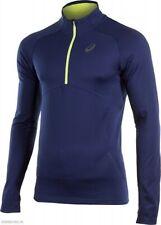 Asics Men's Winter 1/2 Zip Long Sleeve Jacket Top - Navy - New