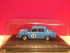 SUPERBE RENAULT 8 GORDINI 24H DE SPA 1966 ech 1/43 NEUF SOUS BLISTER