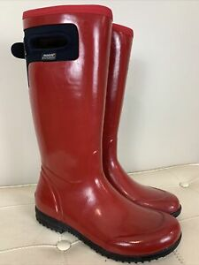 BOGS Tacoma Tall Women Red Rain/Snow Boots Neo-Tech Lite 5F or -15 C Size 10 EUC