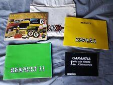 Renault 11 turbo fase 1. Manuales de usuario