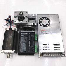 3Nm Stepper Motor Nema23 Drive kit L112mm 50:1 +Power Supply Worm Gearbox CNC