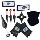 NEU Naruto Stirnband Konoha Kakashi Maske Naruto Kunai und Shuriken Cosplay Toys