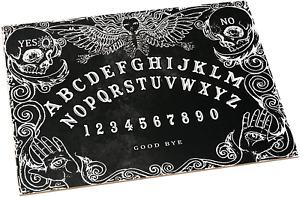 Ouija Board. Schwarz Hexenbrett mit detaillierten Anweisungen