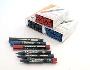10er Set Permanent Marker Textmarker Stift Filzstift wasserfest schwarz rot blau